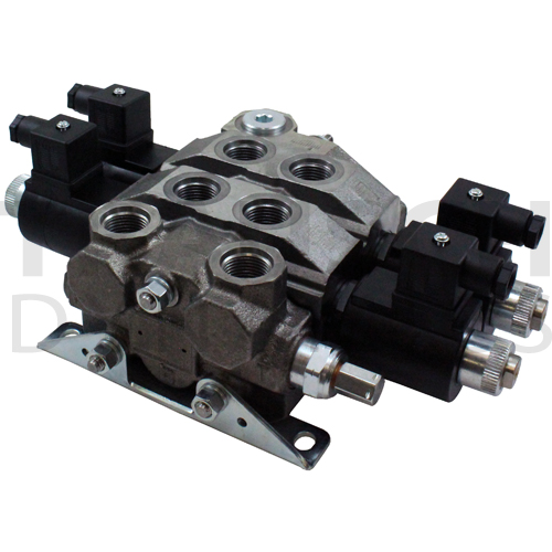 BUCHER - 17 GPM ELECTRIC DIRECTIONAL CONTROL STACK VALVES