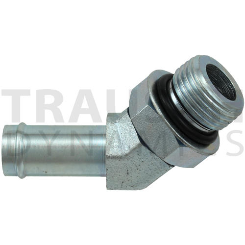 4603 ADAPTERS - HOSE BEAD X SAE ORB 45 DEGREE ELBO...