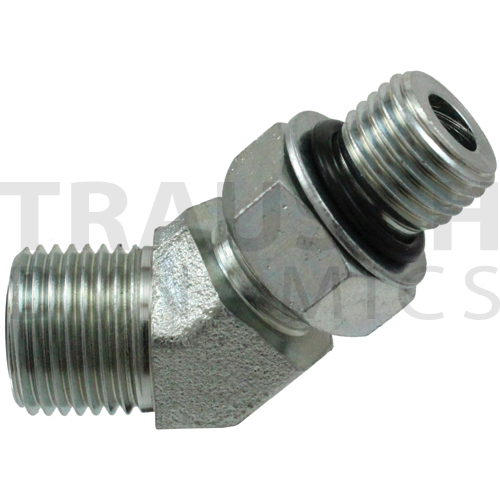 FS6802 ADAPTERS - MALE FACE SEAL X MALE SAE ORB 45...