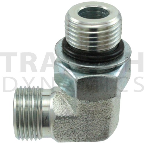 FS6801 ADAPTERS - MALE FACE SEAL X MALE SAE ORB 90...