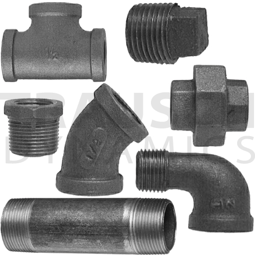 BLACK PIPE FITTINGS, SCHEDULE 40