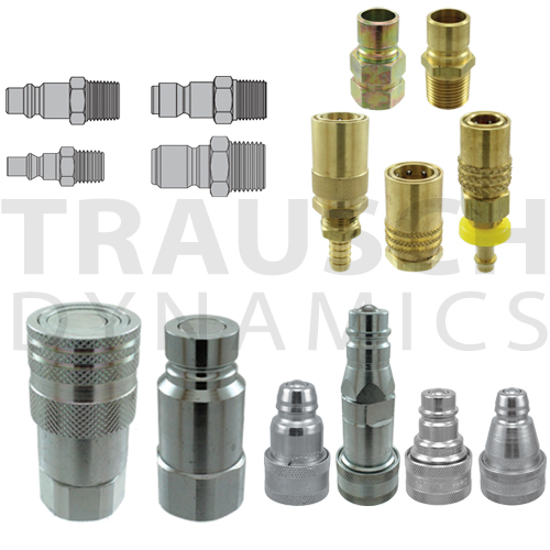 Hydraulic & Pneumatic Quick Couplers, Flat Face, Screw Together, Agricultural, ISO A, ISO B, Wing Style, Diagnostic, and much more!