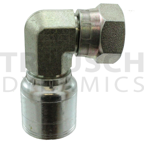 A SERIES, BSPP FEMALE SWIVEL 90 COMPACT