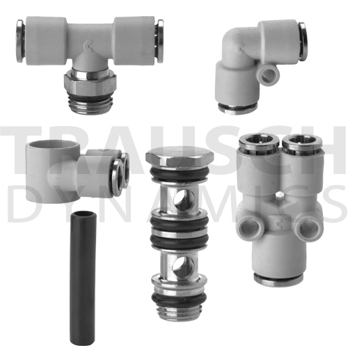 COMPOSITE PUSH-IN FITTINGS, METRIC TUBE