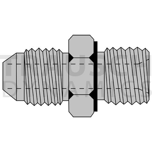 9005ES ADAPTERS - MALE JIC X MALE BSPP ELASTOMERIC...