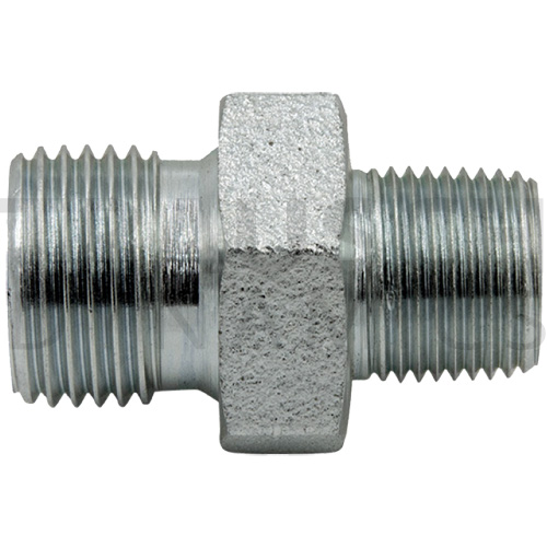 9007 ADAPTERS - MALE BSPP X MALE PIPE NIPPLE