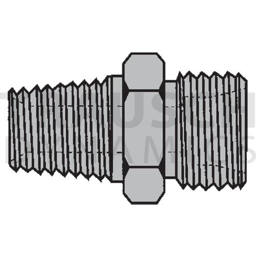 9607 ADAPTERS - MALE PIPE X MALE METRIC DIN