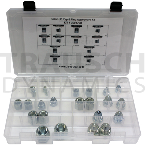 BRITISH JIS CAP & PLUG ASSORTMENT KIT