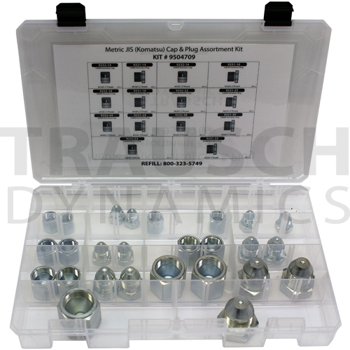 METRIC JIS (KOMATSU) CAP & PLUG ASSORTMENT KIT